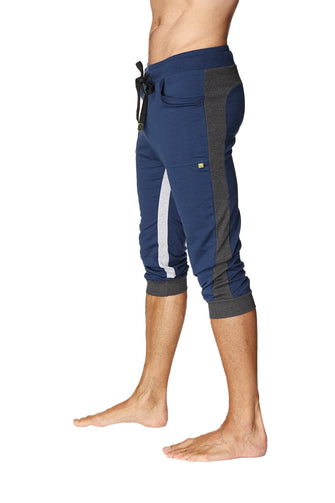 Ultra-Flex Tri-color Cuffed Yoga Pant (ROYAL w/Charcoal & Grey) Cuffed Pants 4-rth