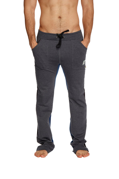 Ultra Flex Yoga Track Pant (CHARCOAL w/Black & Royal) Mens Pants 4-rth