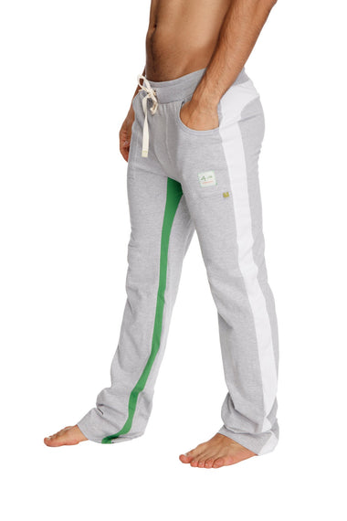 Ultra Flex Yoga Track Pant (GREY w/White & Green) Mens Pants 4-rth