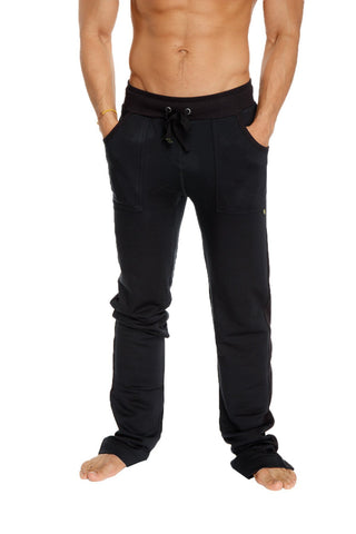 **Winter Collection** Mid-Weight Performance-Fleece Track & Lounge Sweat Pant (Black)