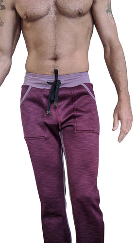 **Winter Collection** Heavier-Weight LUXURY-Fleece Track & Lounge Pant (Plum Purple)