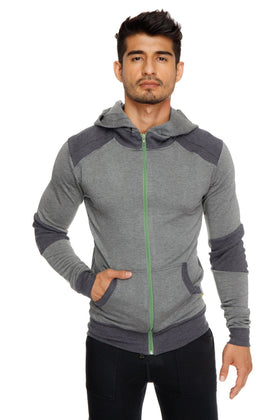 **Winter Collection** Mid-Weight LUXURY-Fleece Crossover Hoodie (Charcoal)