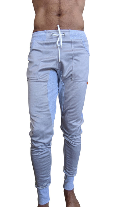 **Winter Edition** LUXURY-Fleece Long Cuffed Jogger Yoga Pants (Light Grey)