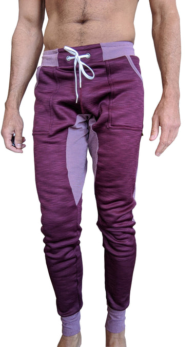 **Winter Edition** Performance-Fleece Long Cuffed Jogger Yoga Pants (Plum Purple) Long Joggers 4-rth