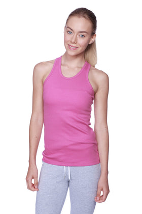Women's All-American Racerback Tank Top (Berry) Womens Tank Tops 4-rth