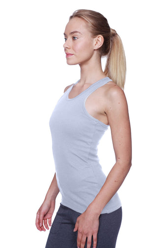 Women's All-American Racerback Tank Top (Heather Grey) Womens Tank Tops 4-rth