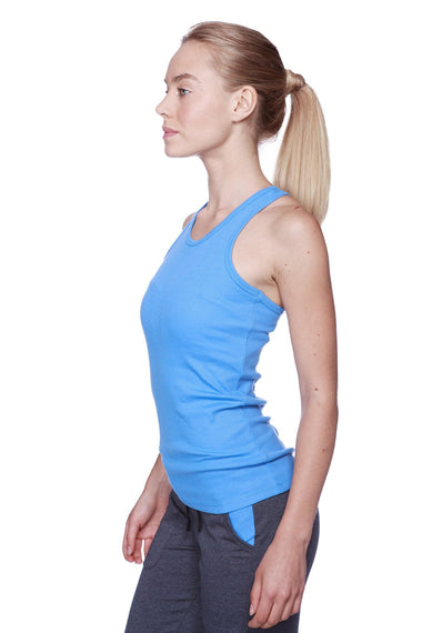 Women's All-American Racerback Tank Top (Ice Blue) Womens Tank Tops 4-rth