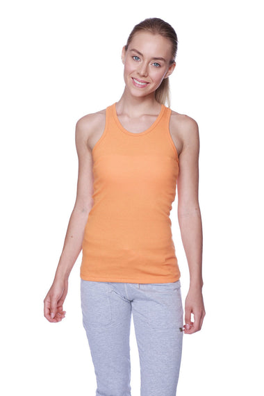 Women's All-American Racerback Tank Top (Sun Orange) Womens Tank Tops 4-rth