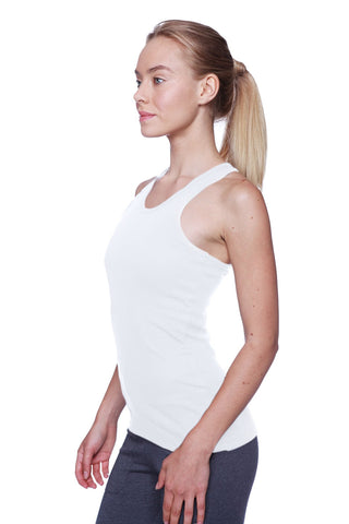 Women's All-American Racerback Tank Top (White) Womens Tank Tops 4-rth