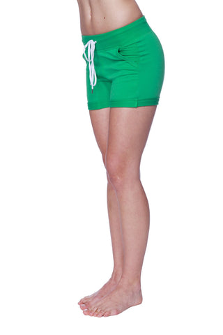 Women's Performance Yoga Short Womens Shorts 4-rth Extra Small Bamboo Green