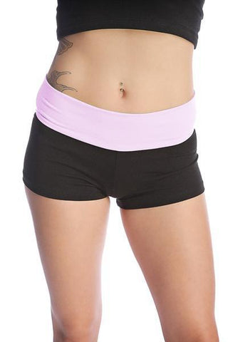 Womens Yoga Transition Short Womens Shorts 4-rth Small Black w/ Pink
