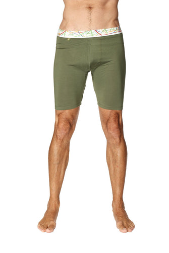 Yoga Compression Short (Rainforest Green) Mens Underwear 4-rth