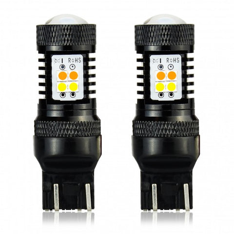 3030 SMD 7443 Turn Signals/SwitchBacks LED Bulbs | Set of 2