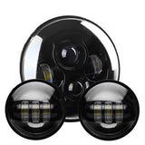 "VisionPRO 8700BP Black 4.5"" LED Passing Lamp Kit for Harley Davidson and Others ""PAIR"""