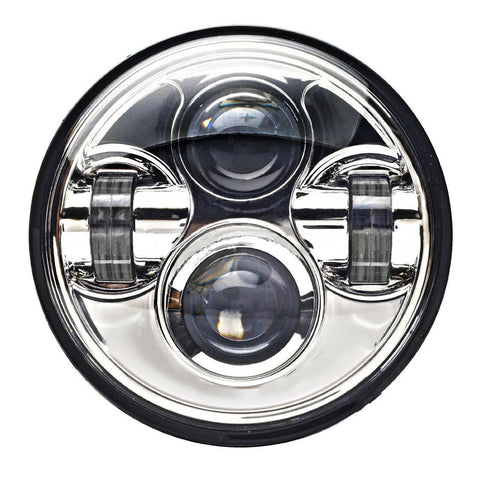 "VisionPRO 8600C Series 5 3/4"" Chrome LED Projection Daymaker Headlight for Harley Sportster, Dyna and Other Models"