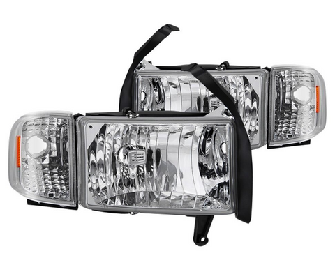 Spyder® - Chrome Factory Style Headlights with Corner Lights.