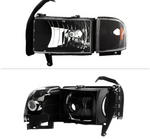 Spyder® - Black Factory Style Headlights with Corner Lights.