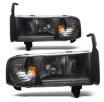 Winjet® - Black Euro Headlights
