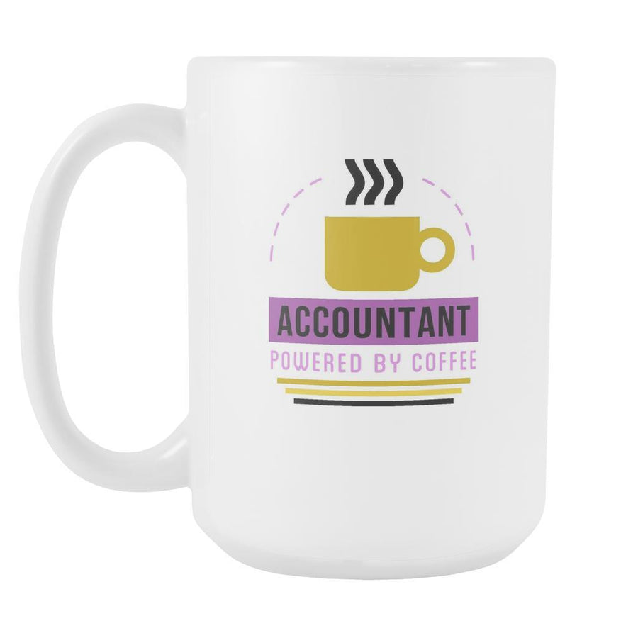 Accountant Coffee mug - Accountant Powered by-Drinkware-Teelime | shirts-hoodies-mugs