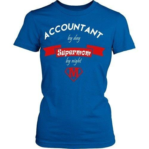 Accountant T Shirt - Accountant supermom-T-shirt-Teelime | shirts-hoodies-mugs