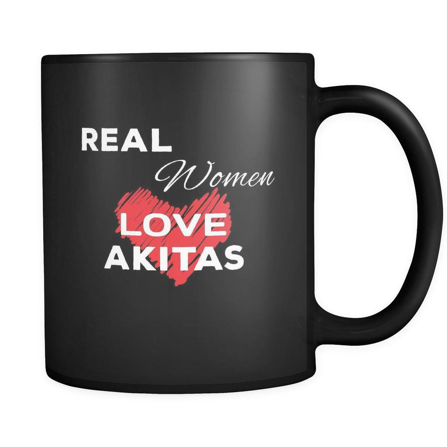 Akita Real Women Love Akitas 11oz Black Mug
