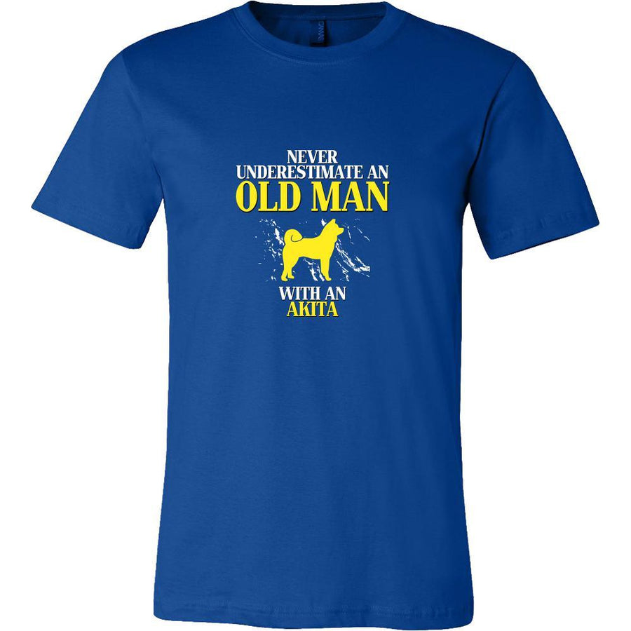 Akita Shirt - Never underestimate an old man with an Akita Grandfather Dog Gift