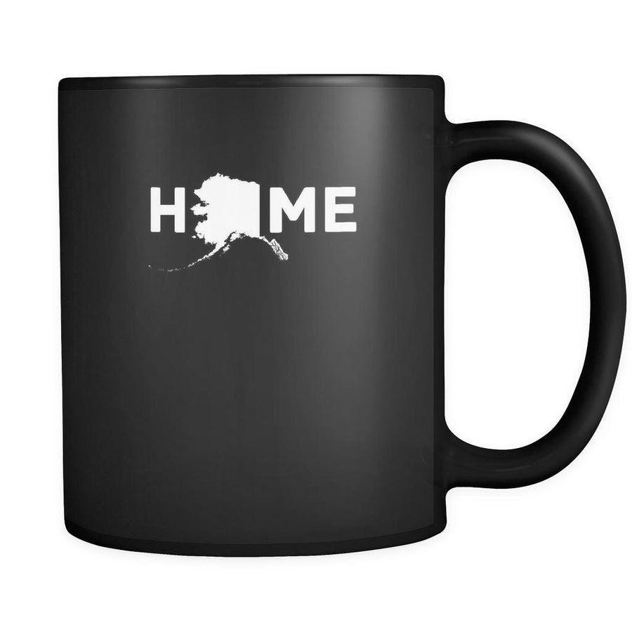 Alaska Home Alaska 11oz Black Mug