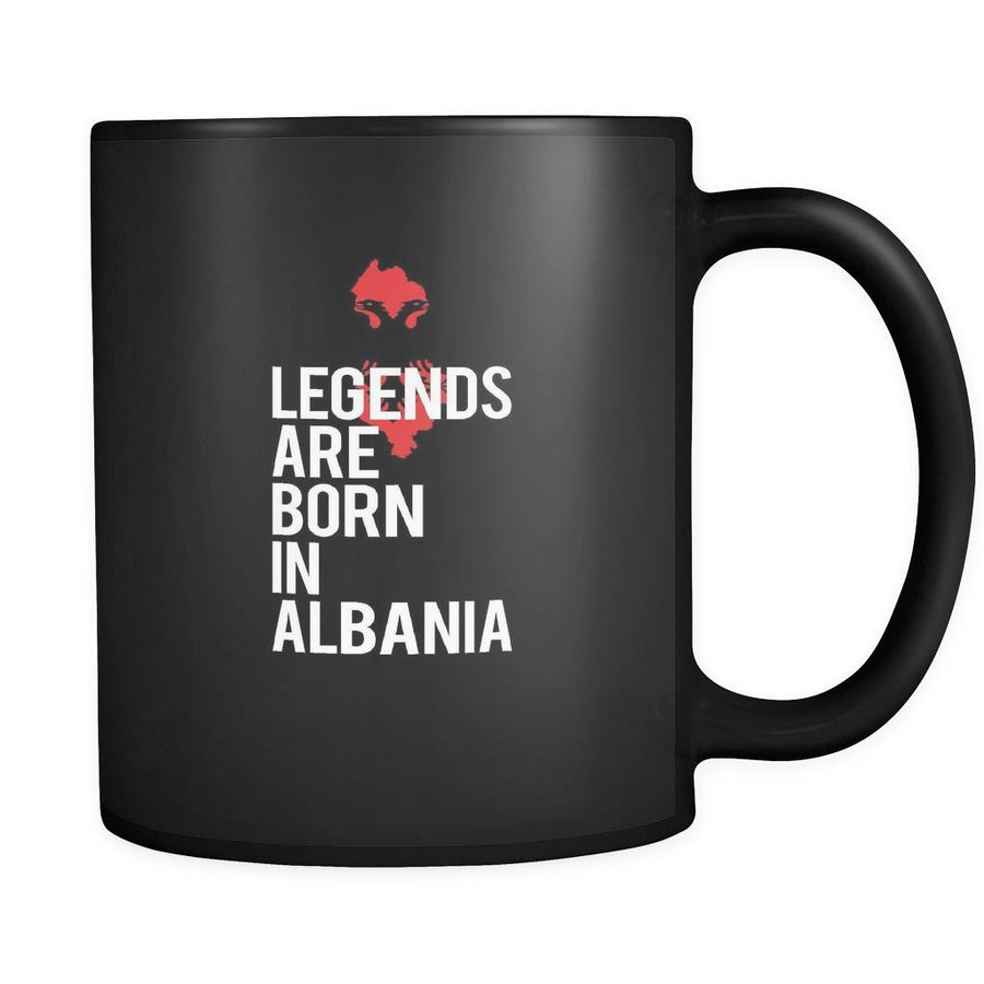 Albania Legends are born in Albania 11oz Black Mug-Drinkware-Teelime | shirts-hoodies-mugs