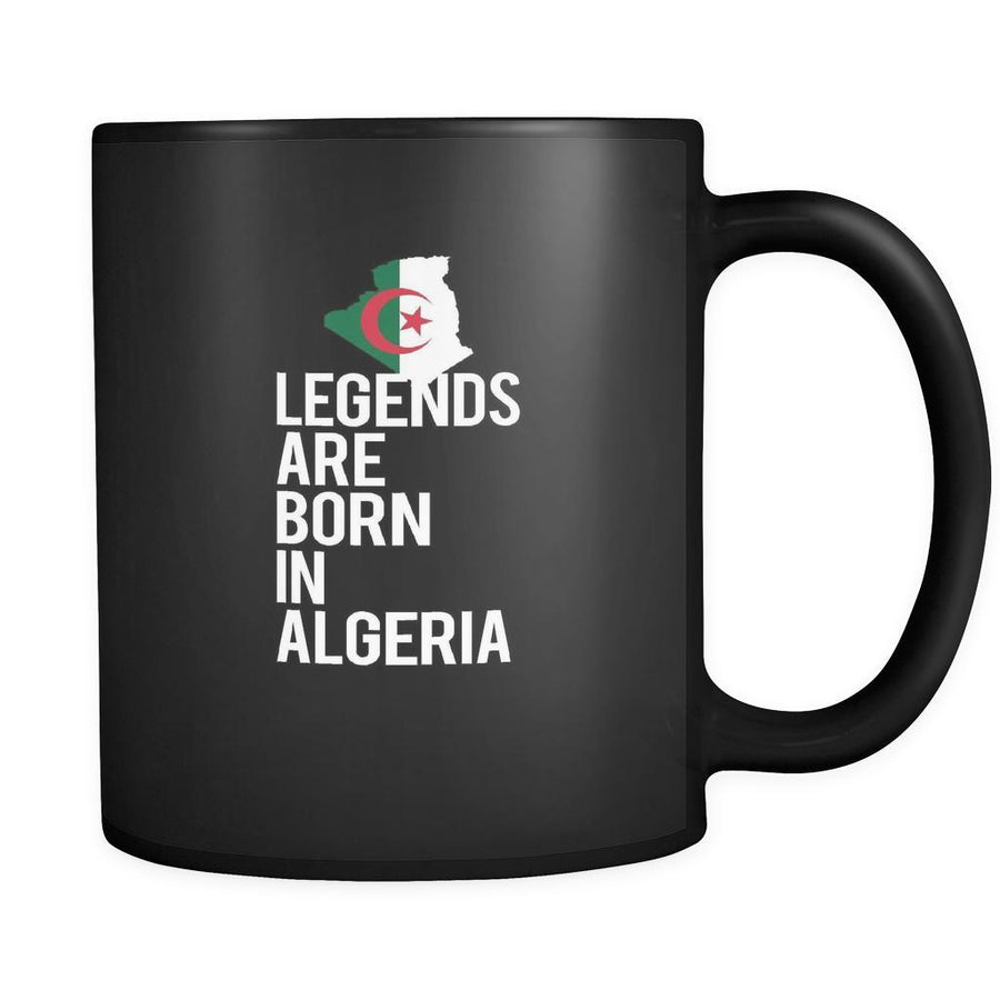 Algeria Legends are born in Algeria 11oz Black Mug-Drinkware-Teelime | shirts-hoodies-mugs
