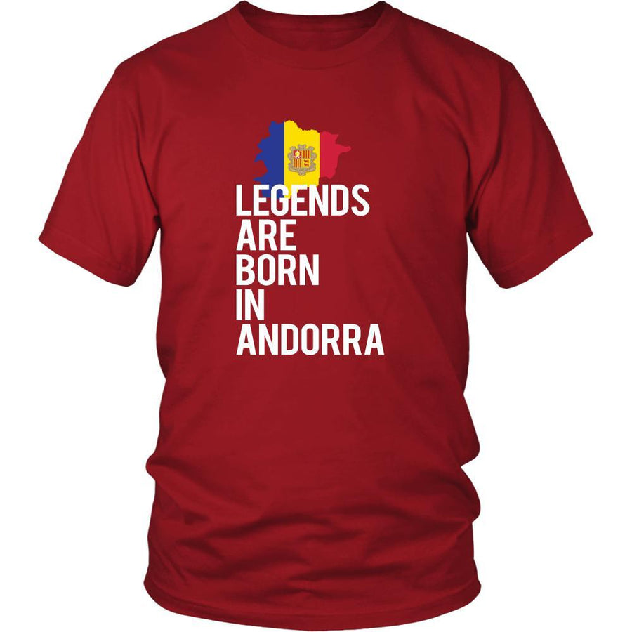 Andorra Shirt - Legends are born in Andorra - National Heritage Gift-T-shirt-Teelime | shirts-hoodies-mugs