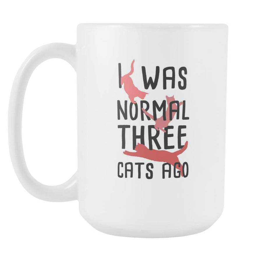 Animal Coffee cup - I was Normal three Cats ago-Drinkware-Teelime | shirts-hoodies-mugs