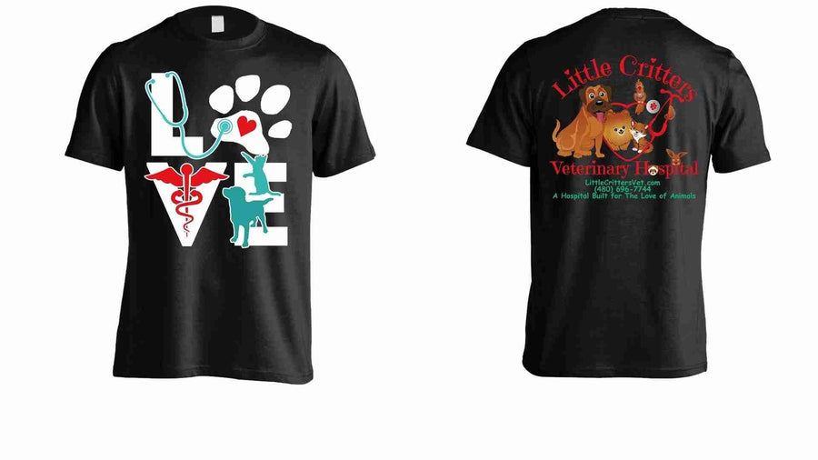 Animal T Shirts - Love Dog & Cat Little Critters