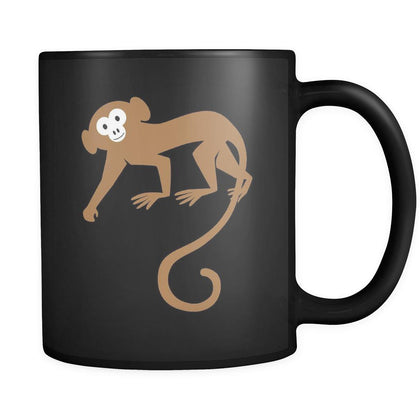 Ape Animal Illustration 11oz Black Mug-Drinkware-Teelime | shirts-hoodies-mugs