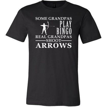 Archery Shirt Some Grandpas play bingo, real Grandpas go Archery Family Hobby-T-shirt-Teelime | shirts-hoodies-mugs
