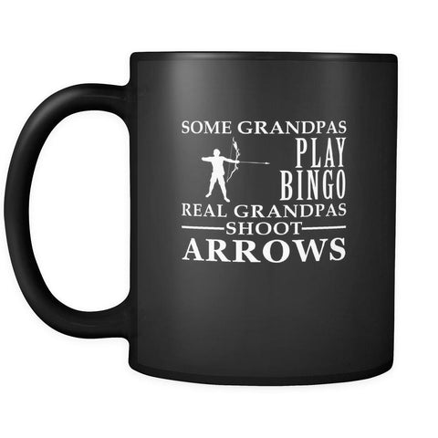 Archery Some Grandpas play bingo, real Grandpas go Archery 11oz Black Mug-Drinkware-Teelime | shirts-hoodies-mugs