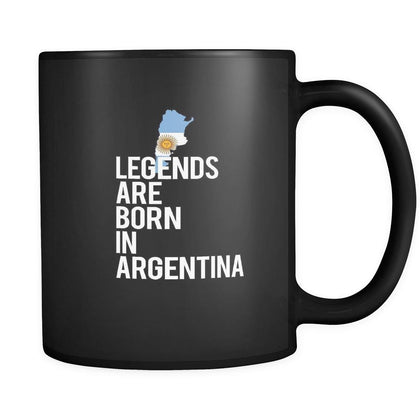 Argentina Legends are born in Argentina 11oz Black Mug-Drinkware-Teelime | shirts-hoodies-mugs