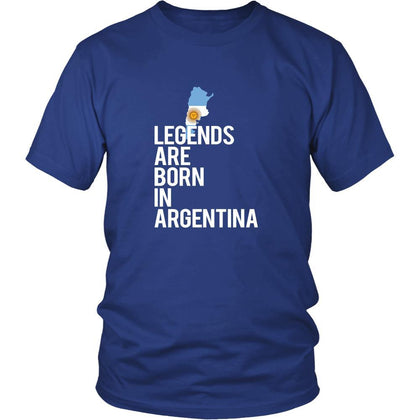 Argentina Shirt - Legends are born in Argentina - National Heritage Gift-T-shirt-Teelime | shirts-hoodies-mugs
