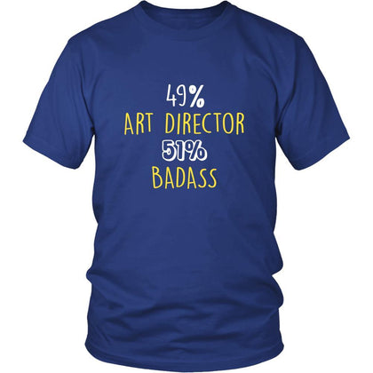Art Director Shirt - 49% Art Director 51% Badass Profession-T-shirt-Teelime | shirts-hoodies-mugs