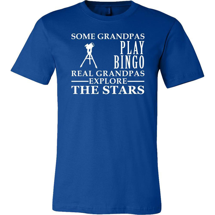 Astronomy Shirt Some Grandpas play bingo, real Grandpas Explore the Stars Family Hobby-T-shirt-Teelime | shirts-hoodies-mugs