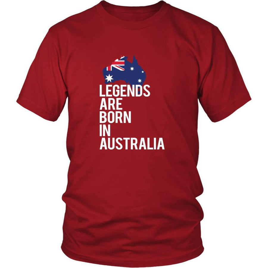 Australia Shirt - Legends are born in Australia - National Heritage Gift-T-shirt-Teelime | shirts-hoodies-mugs