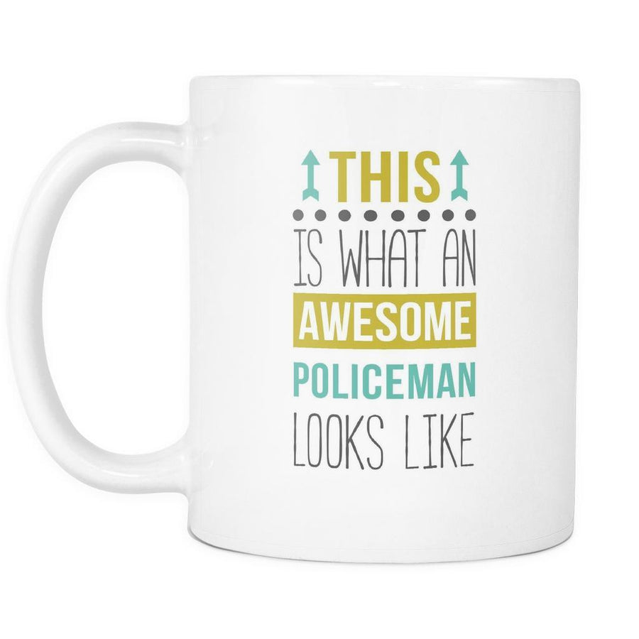 Awesome Policeman mug - Policeman coffee cup (11oz) White-Drinkware-Teelime | shirts-hoodies-mugs