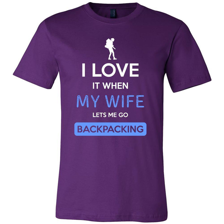 Backpacking Shirt - I love it when my wife lets me go Backpacking - Hobby Gift