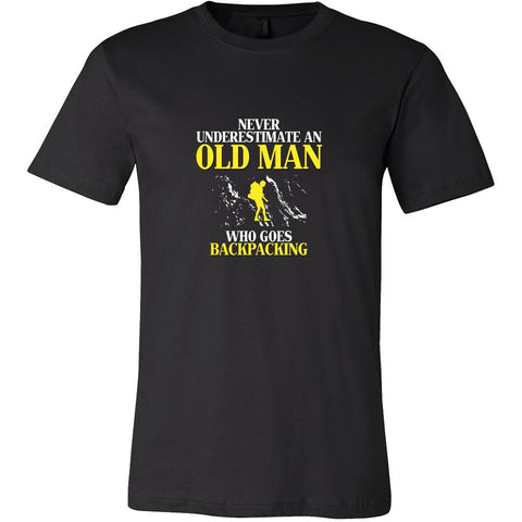Backpacking Shirt - Never underestimate an old man who goes backpacking Grandfather Hobby Gift-T-shirt-Teelime | shirts-hoodies-mugs