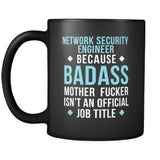 Badass Network Security Engineer Black 11oz Mug-Drinkware-Teelime | shirts-hoodies-mugs