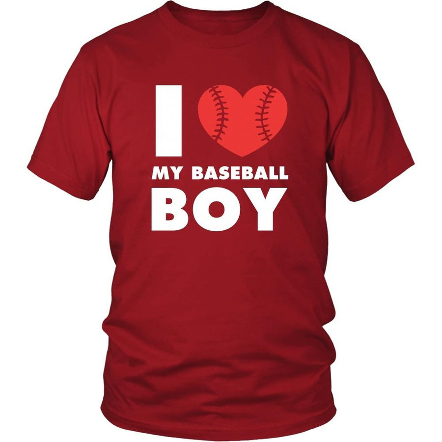 Baseball T Shirt - I love my baseball boy-T-shirt-Teelime | shirts-hoodies-mugs