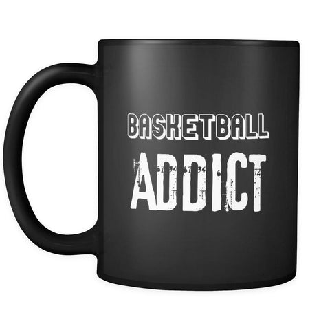 Basketball Basketball Addict 11oz Black Mug-Drinkware-Teelime | shirts-hoodies-mugs