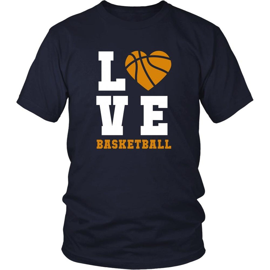 Basketball Love T Shirt - Sport Design Apparel-T-shirt-Teelime | shirts-hoodies-mugs