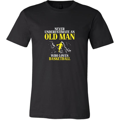 Basketball Shirt - Never underestimate an old man who loves basketball Grandfather Sport Gift-T-shirt-Teelime | shirts-hoodies-mugs