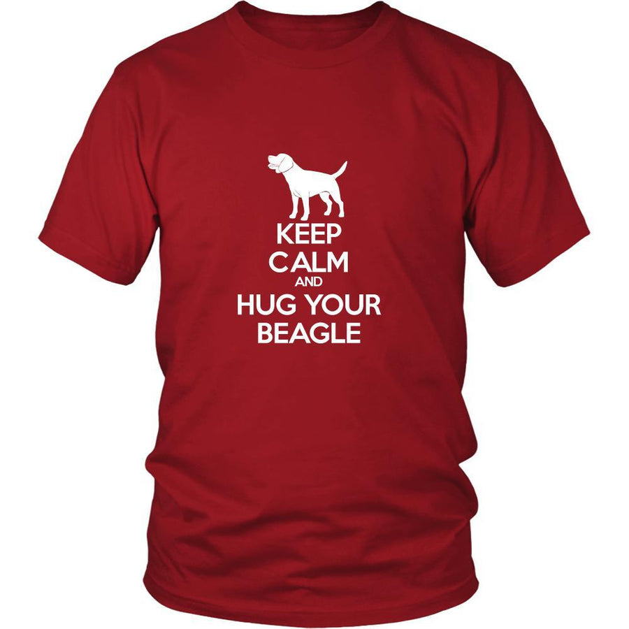 Beagle Shirt - Keep Calm and Hug Your Beagle- Dog Lover Gift Gift-T-shirt-Teelime | shirts-hoodies-mugs