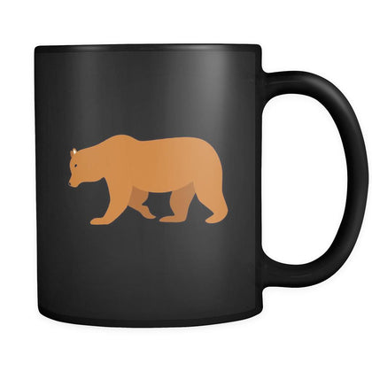 Bear Animal Illustration 11oz Black Mug-Drinkware-Teelime | shirts-hoodies-mugs